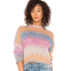Rails Camille Rainbow Sweater Wool Blend M